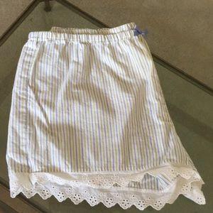 NWOT Loft size small striped pajama shorts